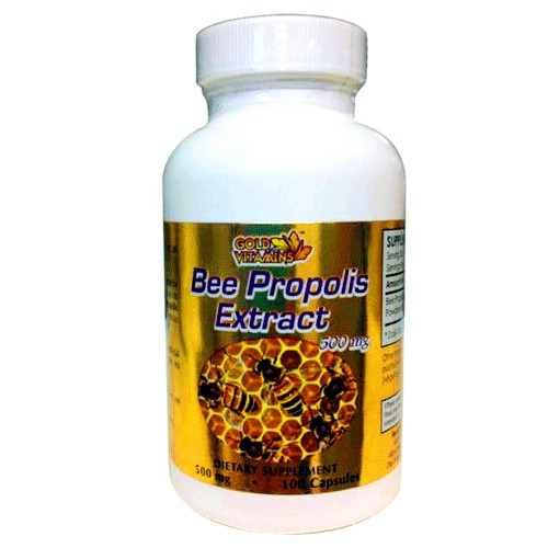 Gold Vitamins Bee Propolis Extract 100 Capsules