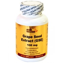 Gold Vitamins Grape Seed Extract 100 Capsules